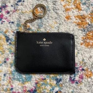 NWT Kate Spade Black Leather Key Pouch